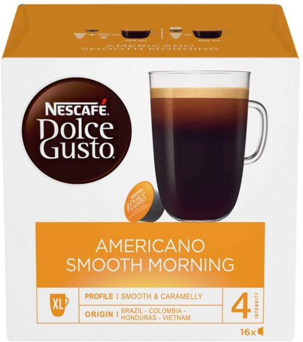 Nescafe Dolce Gusto Americano Smooth Morning Coffee Pods 16 Capsules 160g